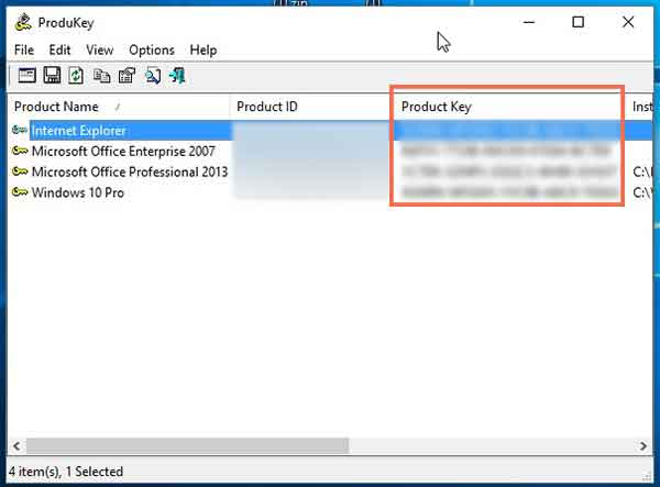 come trovare il product key di office 2013